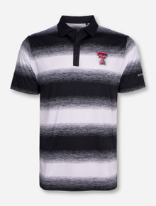 "Columbia Texas Tech ""Knock Down"" White and Black Polo"