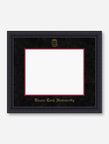 Gold Embossed Black Satin Black Suede Diploma Frame T5