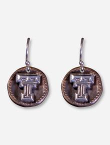 DaynaU Texas Tech Double T Antique Coin Dangle Earrings