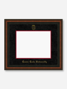 Gold Embossed Mahogany Rope Black Suede Diploma Frame T1