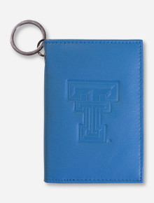 Texas Tech Embossed Double T on Pastel Leather Wallet
