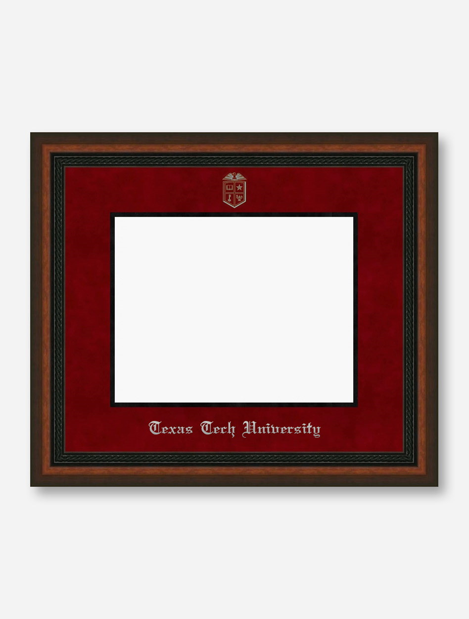 Texas Tech Red Raiders Silver Embossed Mahogany Rope Red Suede ...