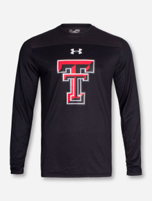 "Under Armour Texas Tech ""Blindside"" Charcoal and Black Long Sleeve Shirt"