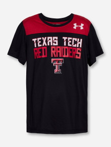 "Under Armour Texas Tech ""Foundation"" YOUTH Red and Black T-Shirt"