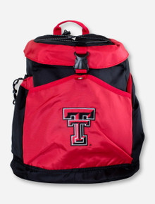 Texas Tech Double T on Black & Red Cooler