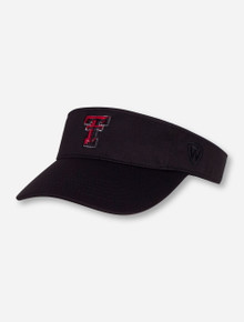 "Top of the World Texas Tech ""Hawkeye"" Black Visor"