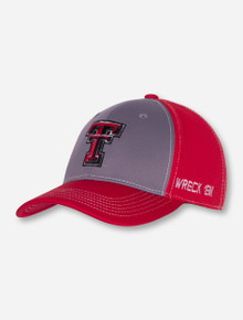 """Top of the World Texas Tech """"Dynamic"""" Red and Grey Stretch Fit Cap"""