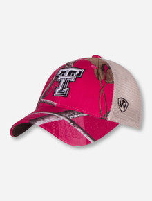 "Top of the World Texas Tech ""Doe"" Women's Pink Snapback Cap"