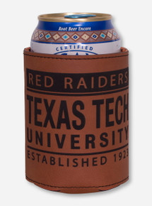 Texas Tech Laramie Bottle and Can Saddle Tan Can Cooler