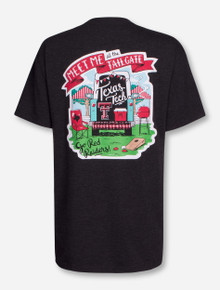 Texas Tech Me at Tailgate on Heather Charcoal T-Shirt