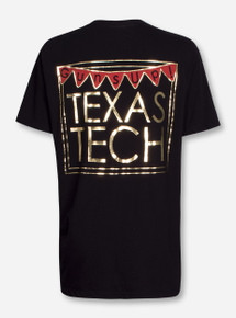 Texas Tech Guns Up Pennants on Black T-Shirt