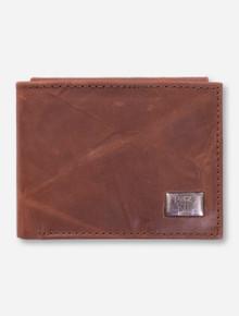 Texas Tech Bi-Fold Brown Leather Wallet
