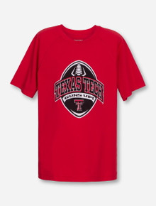 Texas Tech Game Plan on YOUTH Red T-Shirt