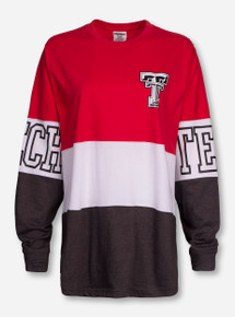 """Pressbox Texas Tech """"Clarity"""" Red, White and Charcoal Sweeper"""