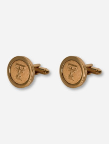 Texas Tech Double T Gold Cufflinks