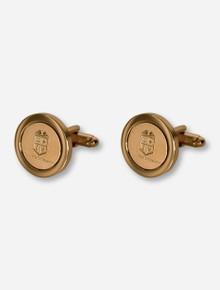 Texas Tech University Seal Gold Cufflinks