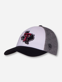 "Top of the World Texas Tech ""Seasons"" Lone Star Pride Tri-Color Stretch Fit Cap"
