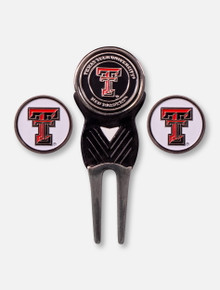 Texas Tech Double T Divot Tool with Extra Magnetic Markers