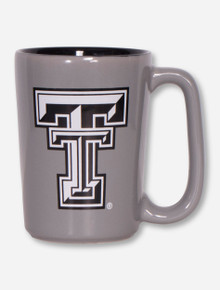 Texas Tech Black and White Double T on Grey Coffee Mug