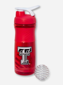 Texas Tech Double T on Red Blender Bottle