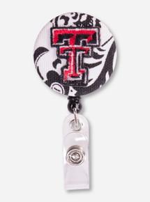Texas Tech Filigree Badge Reel