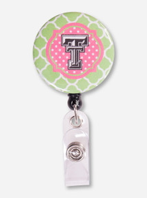 Texas Tech Pink and Green Link Badge Reel