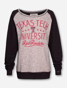 "Pressbox Texas Tech ""Ives"" Boat Neck Sweatshirt"