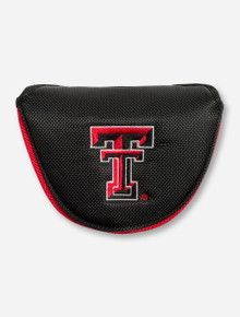 Team Effort Texas Tech Double T on Black Mallet Putter Cover