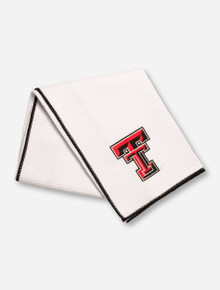 Team Effort Texas Tech Double T on White Microfiber Golf Towel