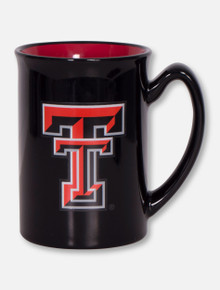 Texas Tech Double T on Glossy Red and Black Coffee Mug