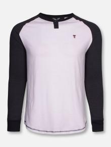 "Texas Tech ""Yale"" White and Charcoal Long Sleeve Shirt"