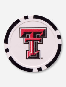 Texas Tech 40mm Black and White Ball Marker