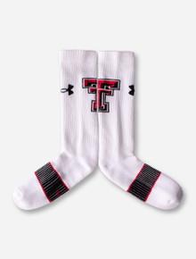 Under Armour Texas Tech White Crew Socks