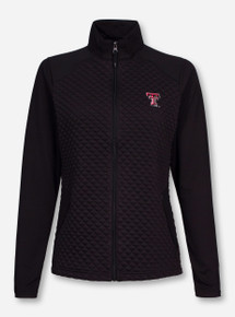 "Antigua Texas Tech ""Gossamer"" Black Quilted Full Zip Jacket"