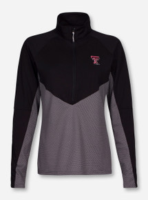 "Antigua Texas Tech ""Convoy"" Black and Grey Half Zip Pullover"
