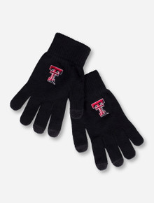 Texas Tech Double T on Touchscreen Compatible Red Gloves