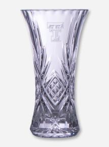 "Texas Tech 9 1/4"" Crystal Vase"