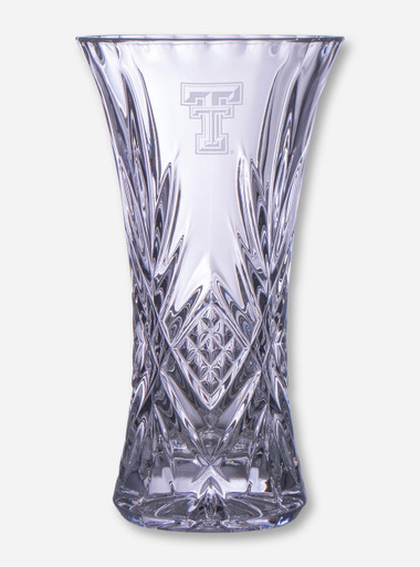 Texas Tech Red Raiders 11 34 Crystal Vase