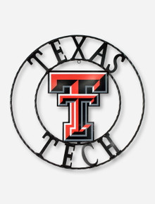 Texas Tech Full Color Double T Wrought Iron Sign