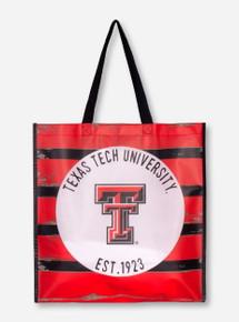 Texas Tech Striped Plastic Picnic Tote