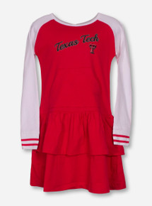 "Garb Texas Tech ""Kacey"" TODDLER Red and White Dress"