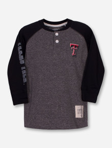 "Garb Texas Tech ""Ryland"" TODDLER Grey and Black Raglan"