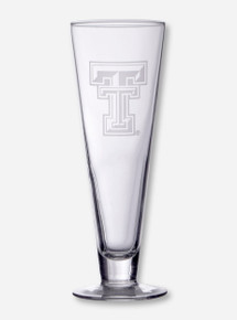Texas Tech Double T Etched Classic Pilsner Glass