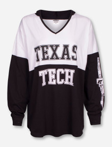 "Pressbox Texas Tech ""Crystal"" Black and White Hoodie"