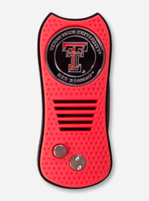 Texas Tech Double T Red Divot Repair Tool with Ball Marker