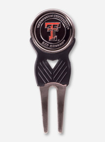 Texas Tech Double T Black Divot Tool