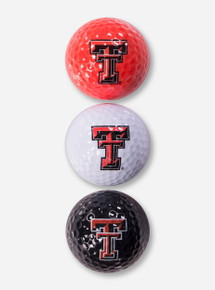 Texas Tech Double T Tri Color Golf Balls
