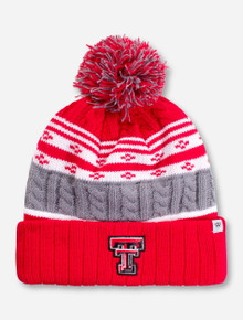 "Top of the World Texas Tech ""Altitude"" Red and Grey Beanie"
