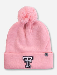 08ab7e2c009 Top of the World Texas Tech Double T Pink Pom Beanie