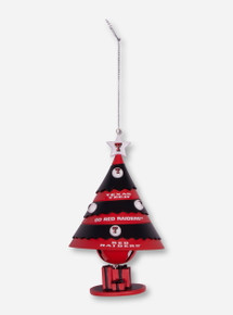 Texas Tech Red and Black Christmas Tree Bell Ornament